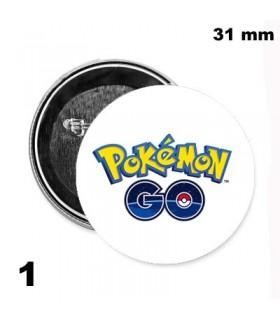 Chapa 31mm Pokemon GO