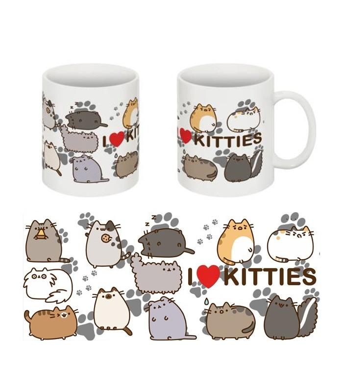 """Taza Pusheen """"I Love Kitties"""""""