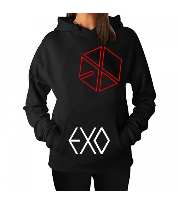 Sudadera con gorro EXO - Logo rojo