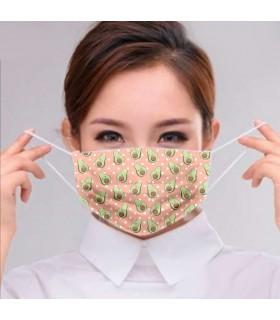 Mascarilla tela filtro Aguacate