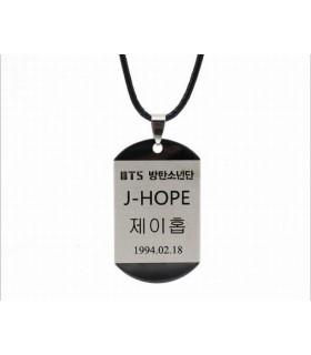 Colgante placa BTS Jhope
