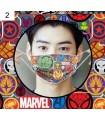 Mascarilla tela filtro Marvel
